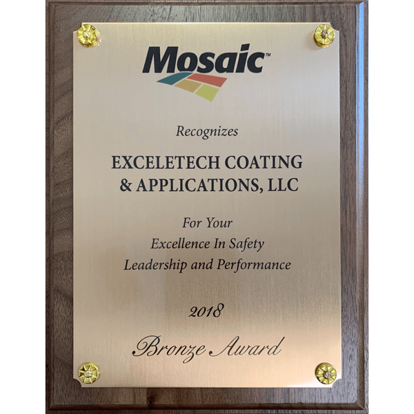 2018 Mosaic Bronze Award for Excellence in Safety, Leadership and Performance